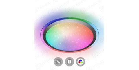 Потолочный светодиодный светильник Maysun ARION 60W RGB R-535-SHINY/SILVER-220-IP44/2019